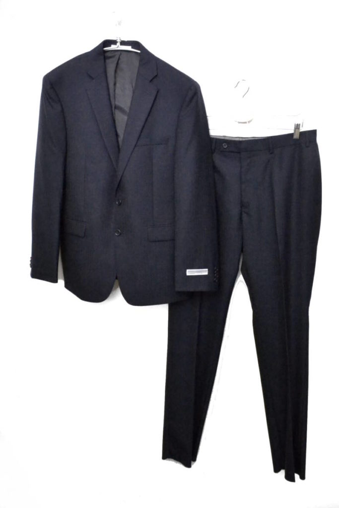ネイビーヘリンボーン 2Bスーツセットアップ