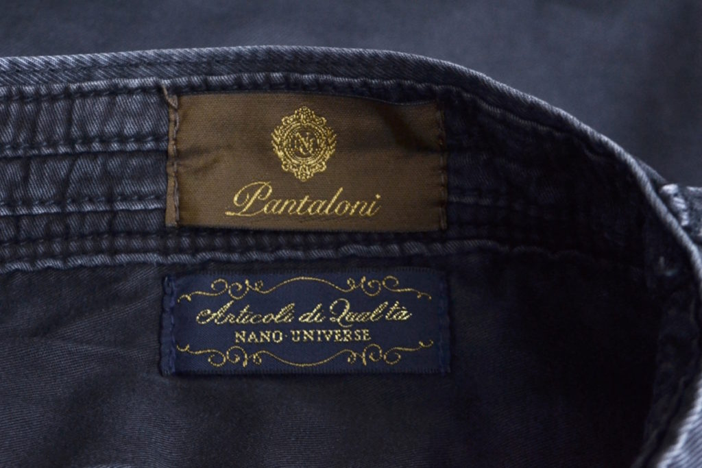 PANTALONI/オーバーダイ ストレッチ ツイルチノパンツの買取実績画像