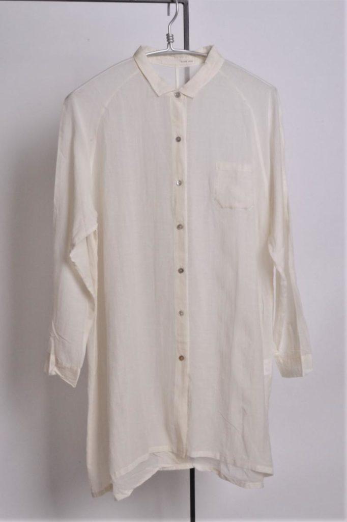 コットンキュプラ ロングシャツ