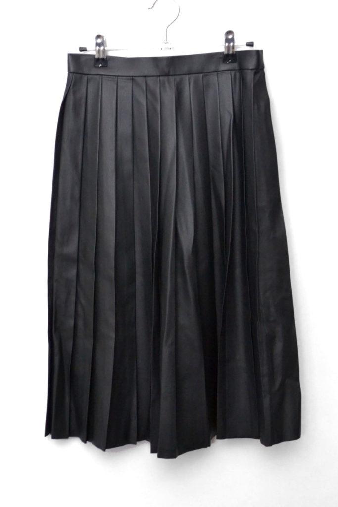 レザーテイスト ミモレプリーツスカート