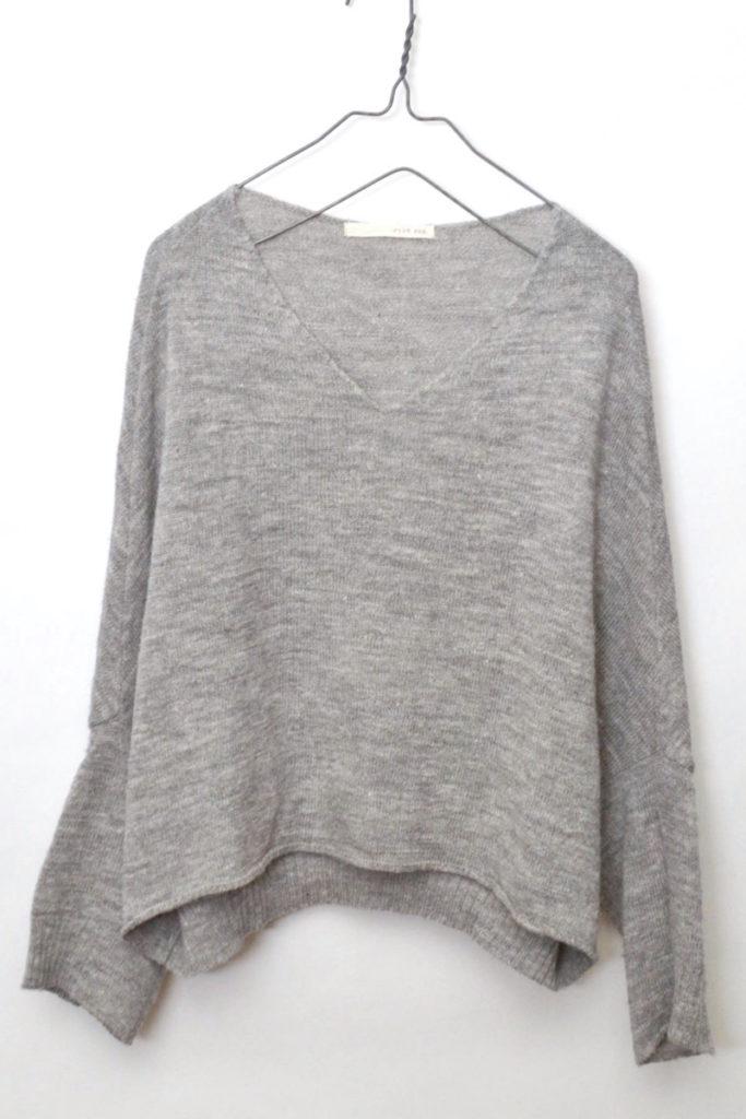 wool linen v-neck dolman knit ウールリネン vネック ドルマンスリーブニット