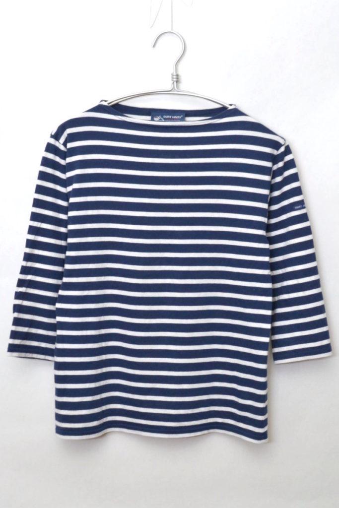 MORLAIX 3/4 モーレ 七分袖ボーダーバスクシャツ カットソー