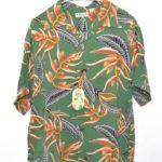 S/ S HAWAIIAN SHIRT 『HANGING HELICONIA』 レーヨンアロハシャツ ハワイアンシャツ