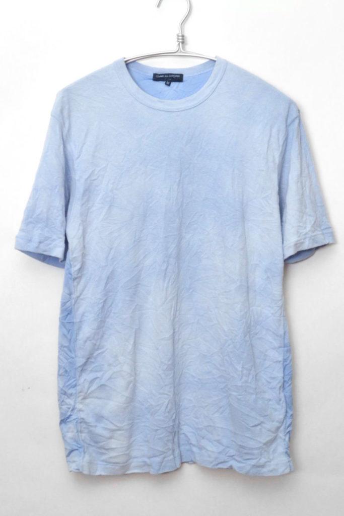 AD2014 2015SS/ 前後切替 製品染め縮絨Tシャツ