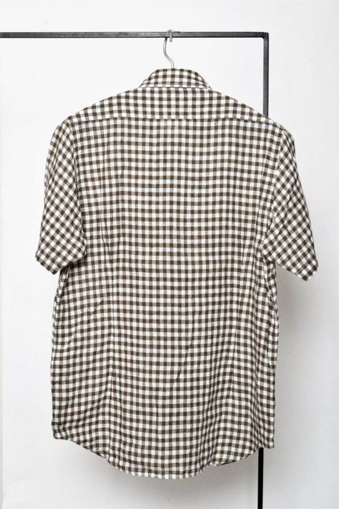 2016SS/ H.S B.OFFICERS SH LINEN ブリティッシュオフィサーズシャツ リネン 半袖の買取実績画像