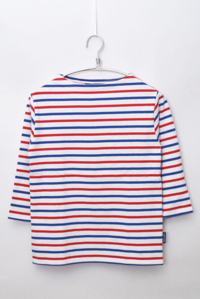 OUESSANT ウエッソン 七分袖 トリコロールボーダーバスクシャツ