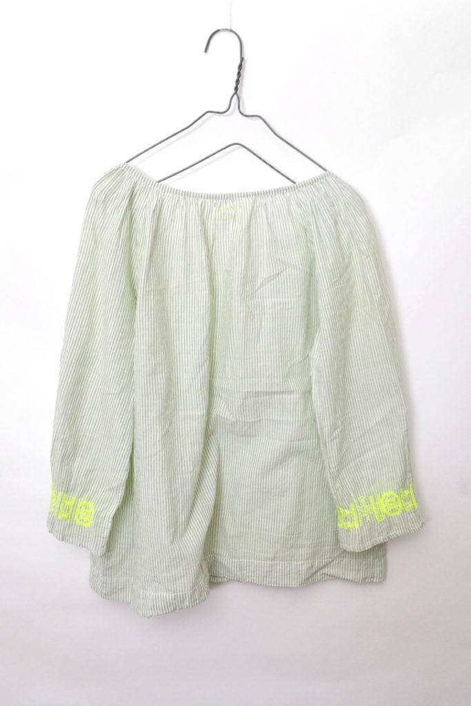 袖刺繍 ストライプ スキッパーブラウスの買取実績画像