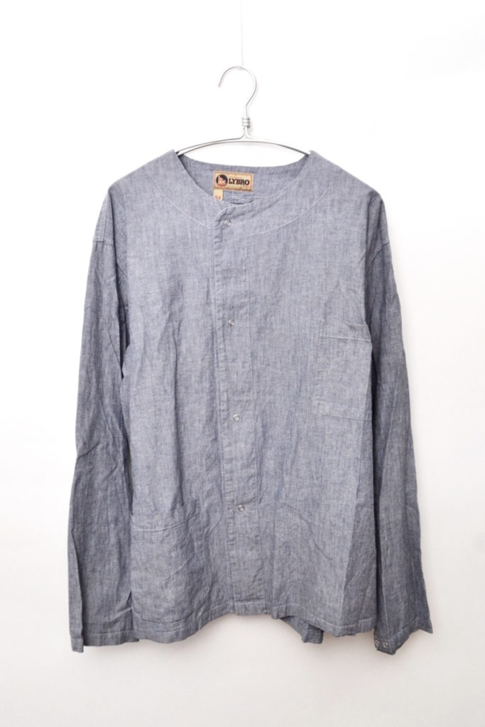 2018SS/PRISONER SHIRT COTTON CHAMBRAY BLUE プリズナーシャツ