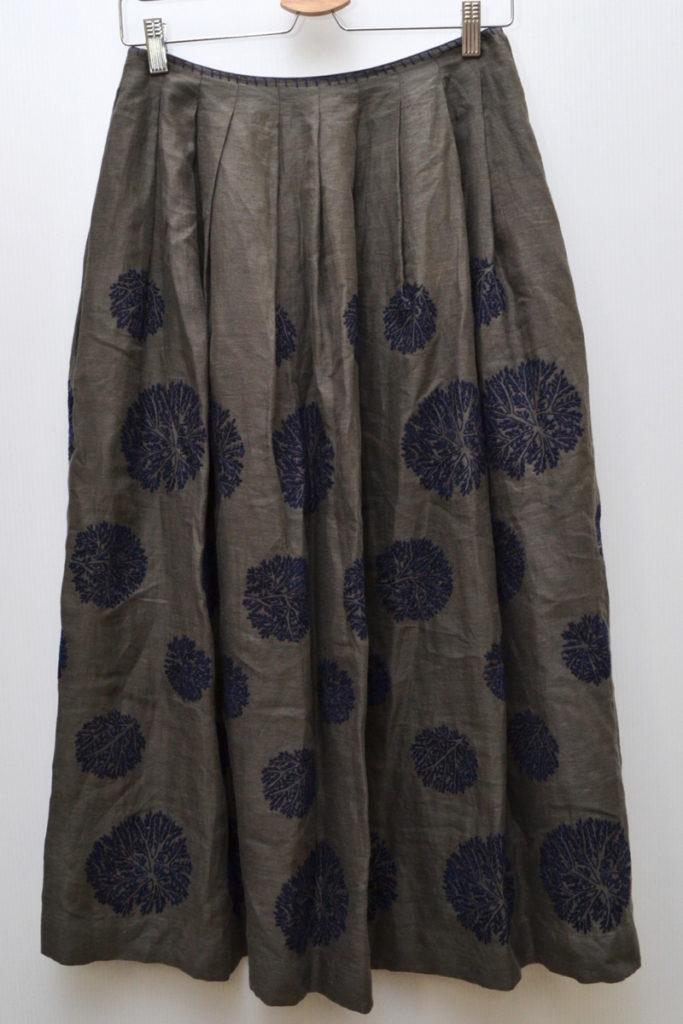 forest dot フォレストドット リネン 刺繍 スカート