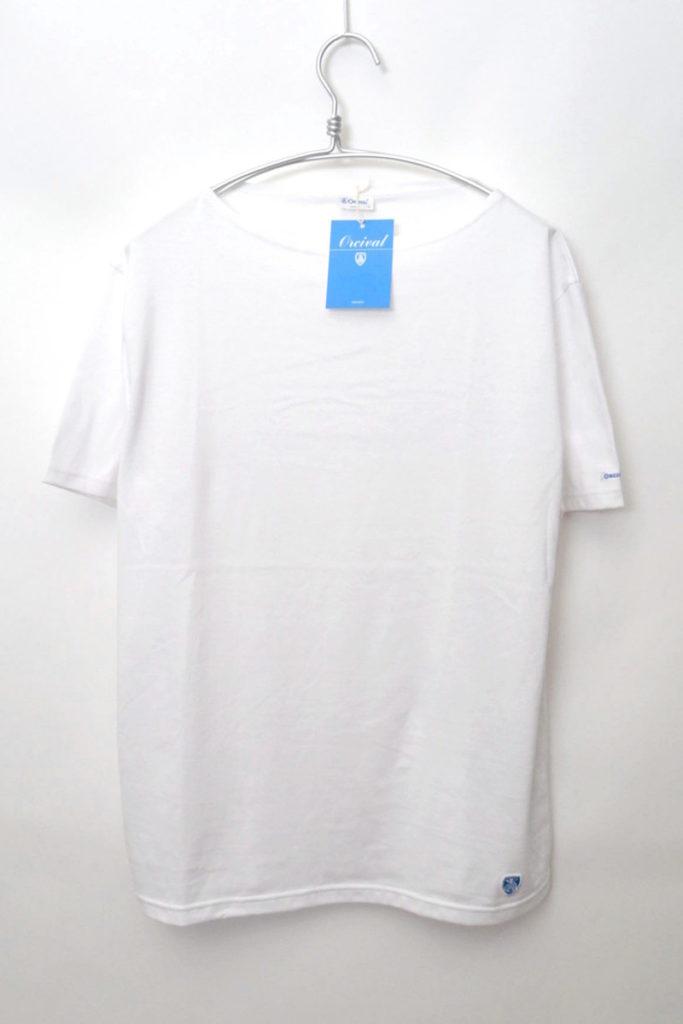 ボートネック 無地 Tシャツ