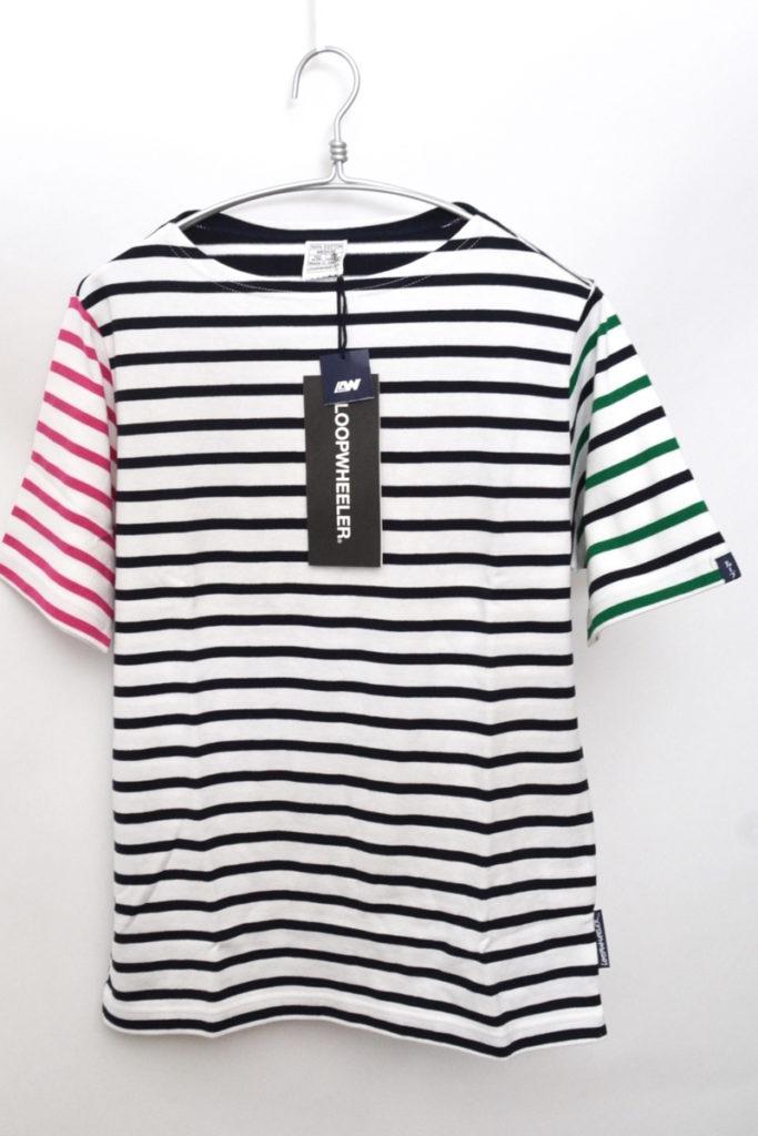 マルチボーダー 半袖Tシャツ バスクシャツ