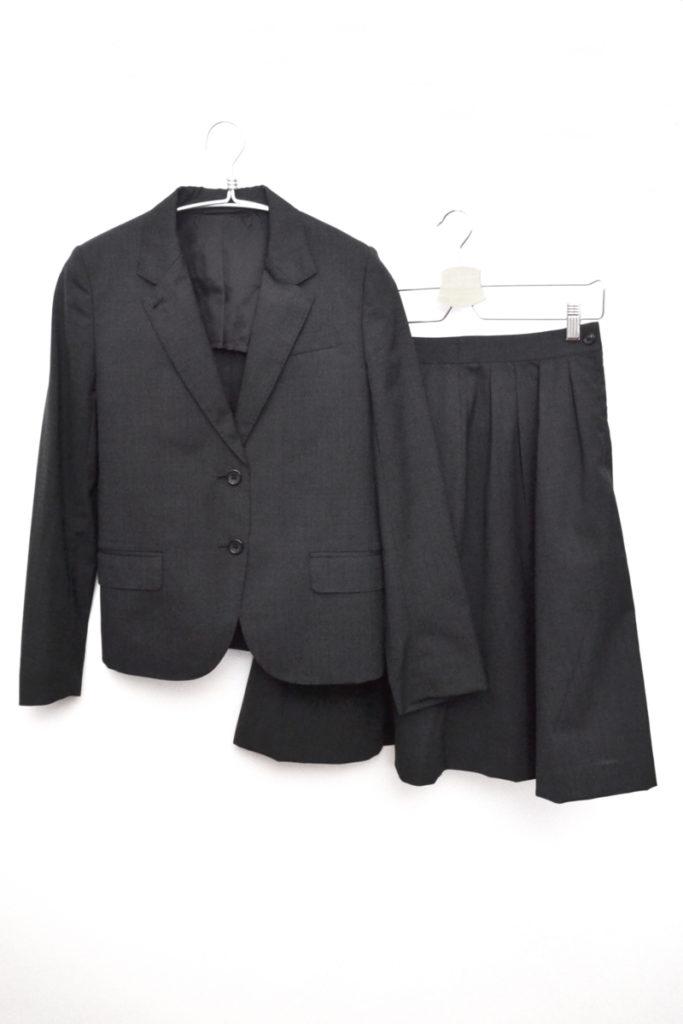ウール 背抜き スカートスーツ セットアップ