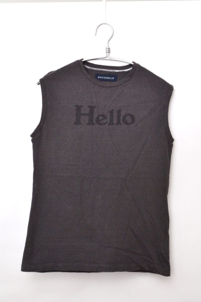 2019SS/ HELLO NOSLEEVE TEE ノースリーブTシャツ