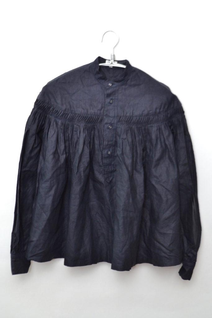 高密度リネン チンツタックシャツ ブラウス
