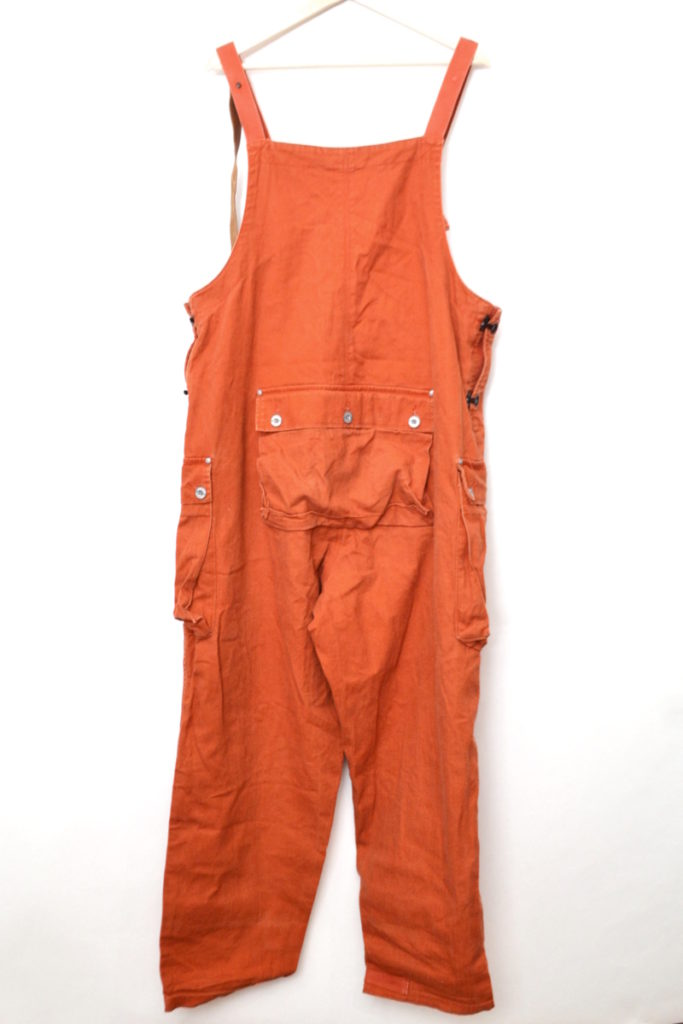 2018AW/ NAVAL DUNGAREE HERRINGBONE DARK ORANGE オーバーオールの買取実績画像