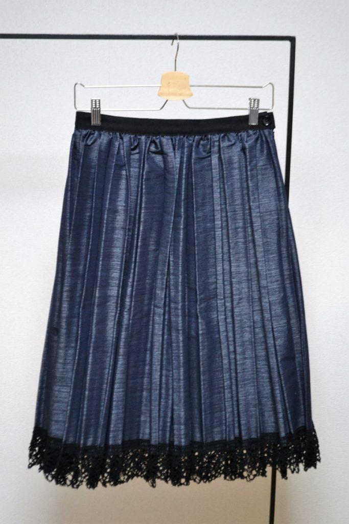 AD2016/ 裾レース プリーツスカート