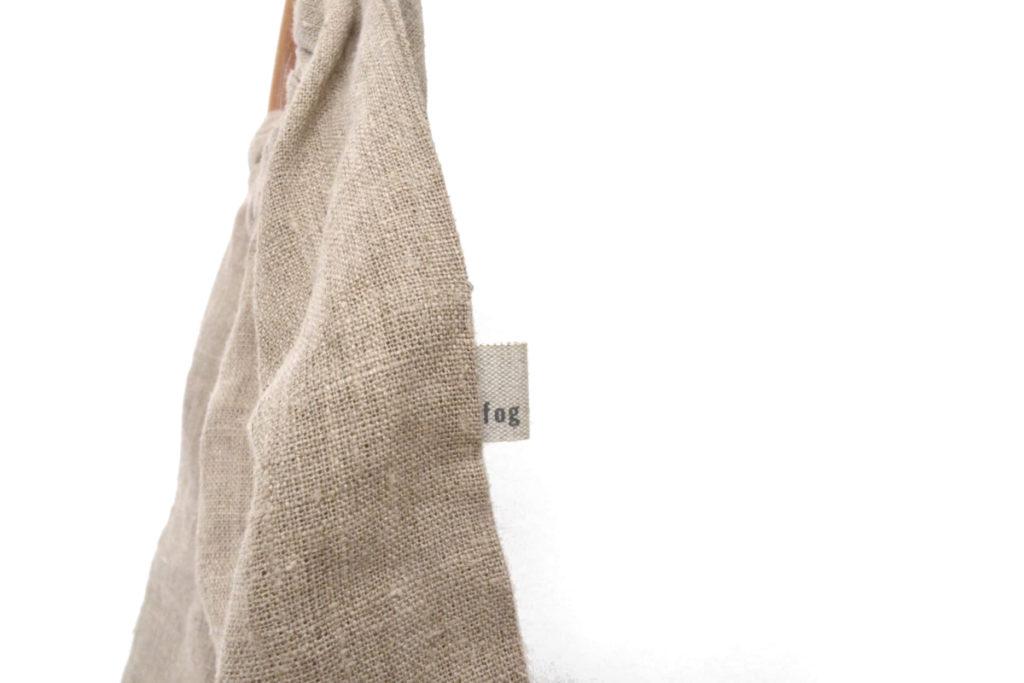 ウッドハンドル リネン ハンドバッグの買取実績画像