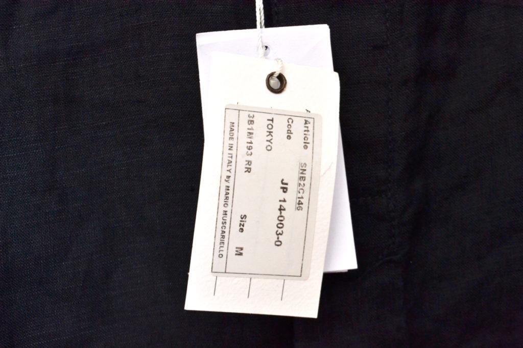 リネン カッタウェイカラーシャツの買取実績画像