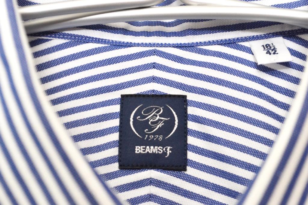 BEAMS F/ワイドカラー ストライプ 長袖シャツの買取実績画像