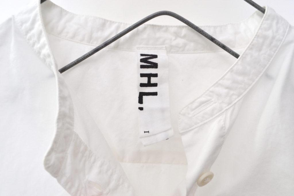 BASIC POPLIN ポプリン プルオーバー バンドカラーシャツの買取実績画像