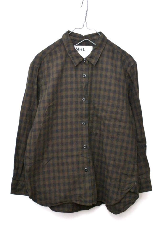 2017AW/ コットン ギンガムチェックシャツ