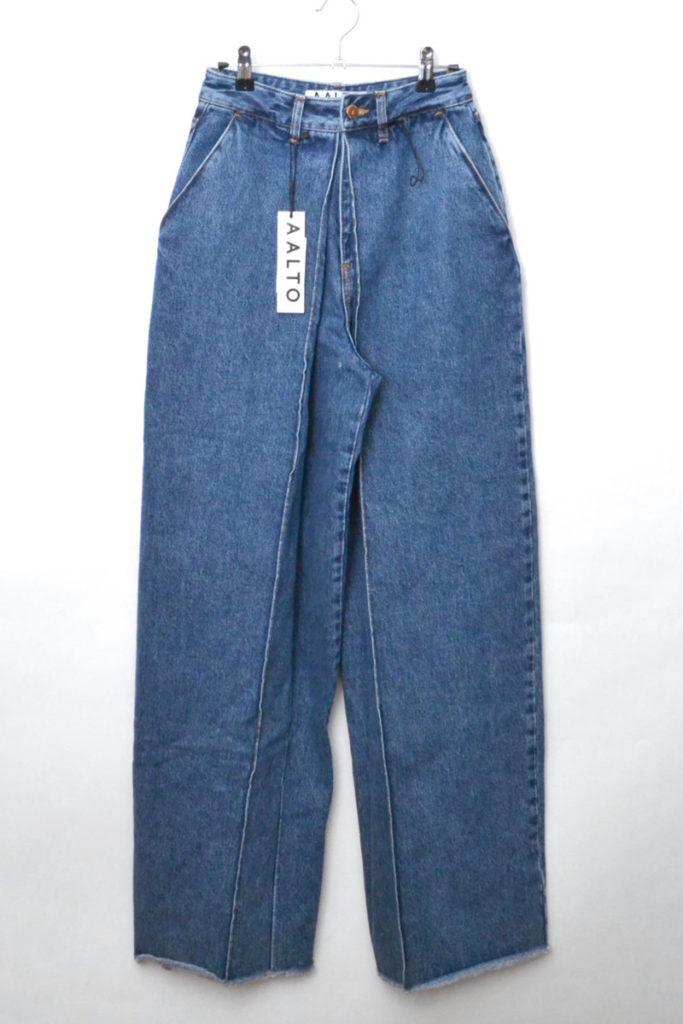 2019SS/ WIDE DENIM TROUSER WITH FRONT PLEAT 80s blue ワイドデニムパンツ