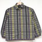 2005AW/fence くるみボタン 丸襟 チェック シャツ