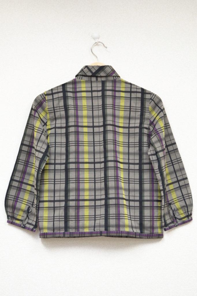 2005AW/fence くるみボタン 丸襟 チェック シャツの買取実績画像