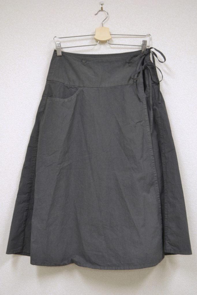 タイプライターコットン ラップ スカート