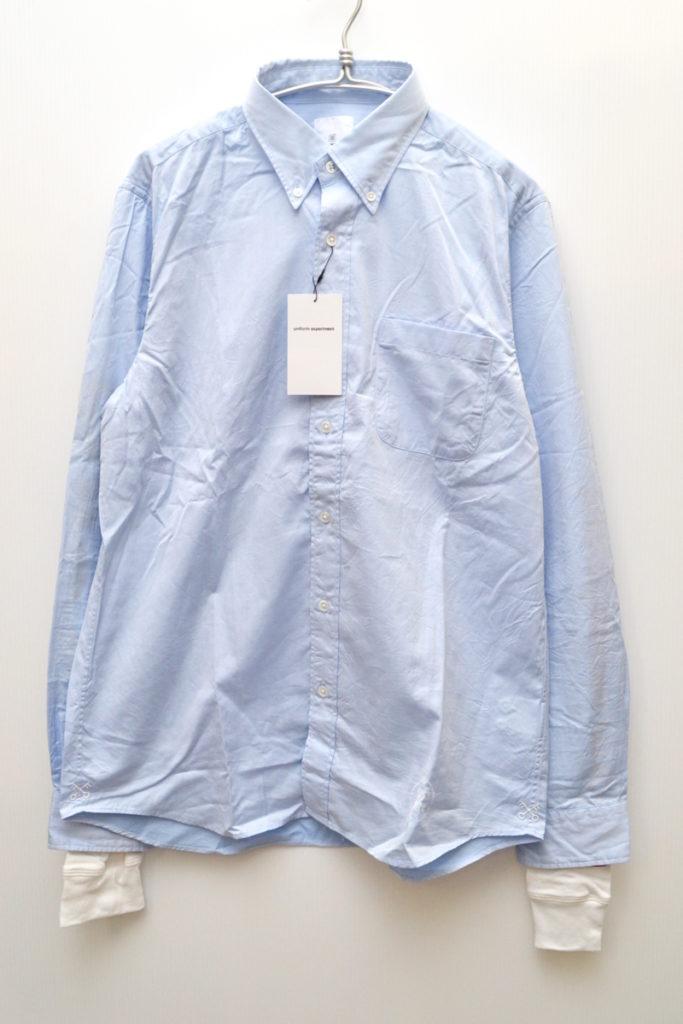 18SS/SLEEVE FAKE LAYERED B.D SHIRT フェイクレイヤード BDシャツ