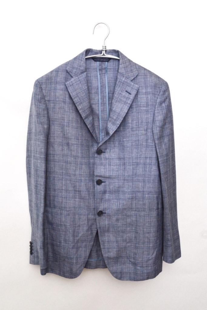 G10647 リネン シルク混紡 3B サマーテーラードジャケット