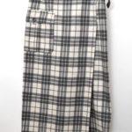 AD1998/チェックウールフランネル ラップスカート