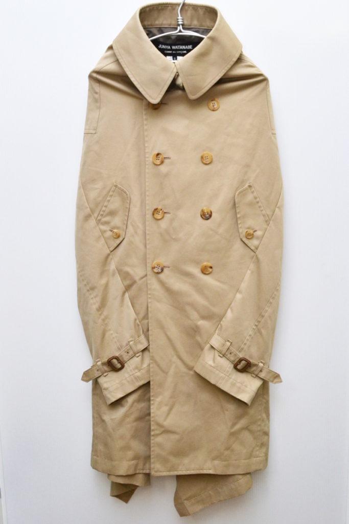 AD2012 12AW/変形 袖なし トレンチコート ポンチョ
