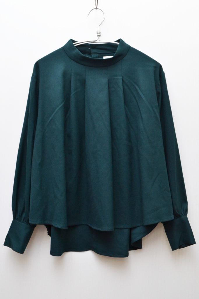 2018AW/フロントタック ウール混紡 プルオーバーシャツ ブラウスの買取実績画像