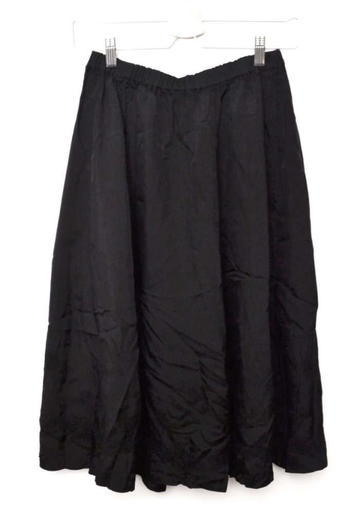 AD2007 08SS/キュプラ 製品染め ウエストゴム 膝下丈 スカート