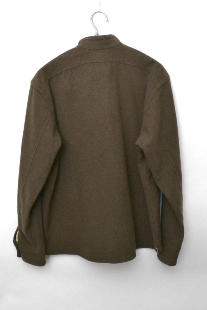 スタンドカラー ウールメルトン プルオーバーシャツジャケットの買取実績画像