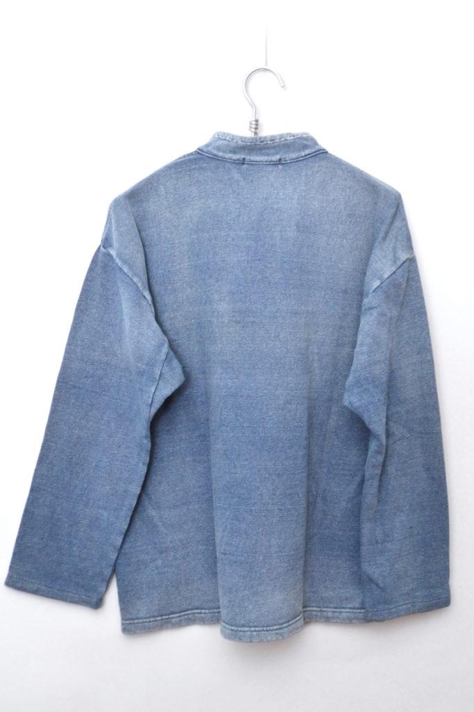 インディゴ裏毛 スタンドカラー スウェットプルオーバー シャツの買取実績画像