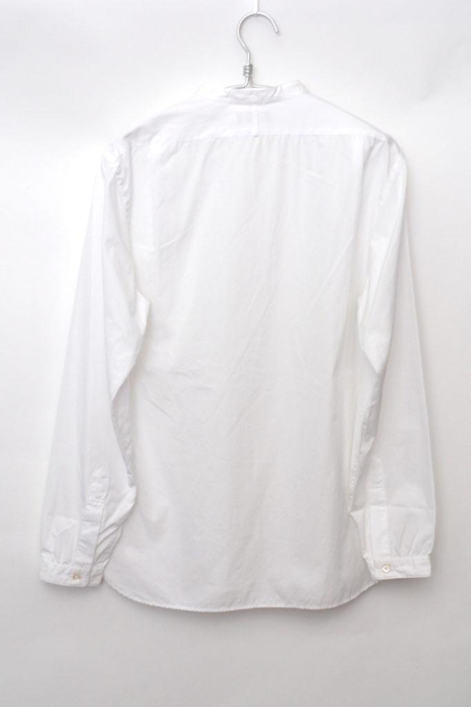 PLAIN COTTON POPLIN ポプリン バンドカラー プルオーバーシャツの買取実績画像