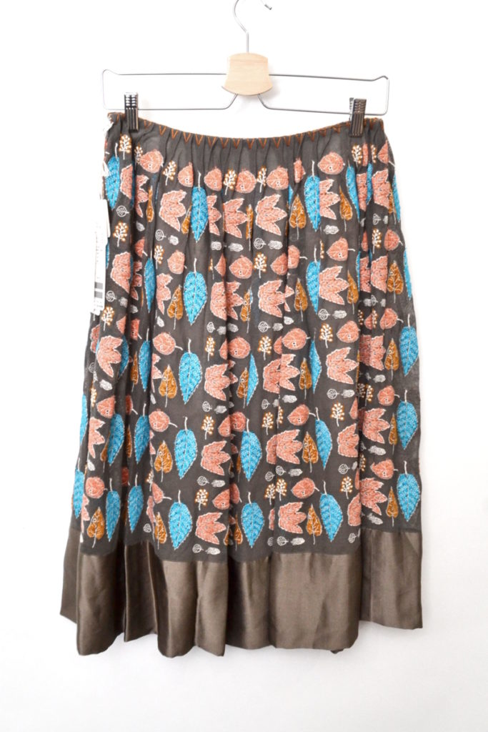 winter flags シルク切替 刺繍 スカートの買取実績画像