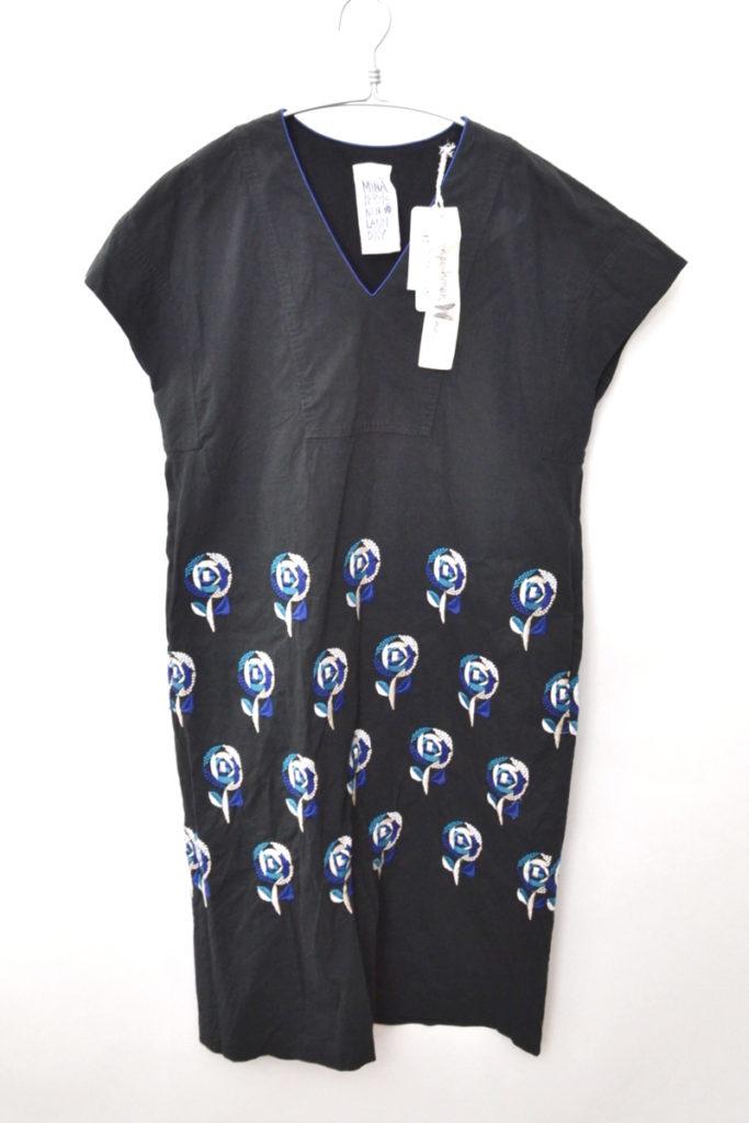 laundry/sand rose ハーフスリーブドレス