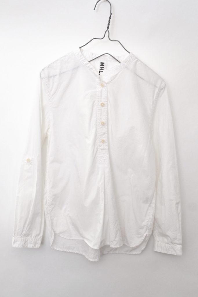 BASIC POPLIN ポプリン プルオーバー バンドカラーシャツ