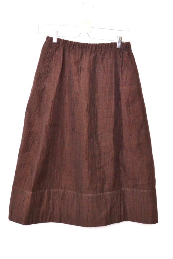 2000AW/ コットンリネン ナイロン シワ加工 中綿スカートの買取実績画像