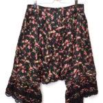AD2005 05AW/レーヨン中綿 花柄 サルエルパンツ 裾レース