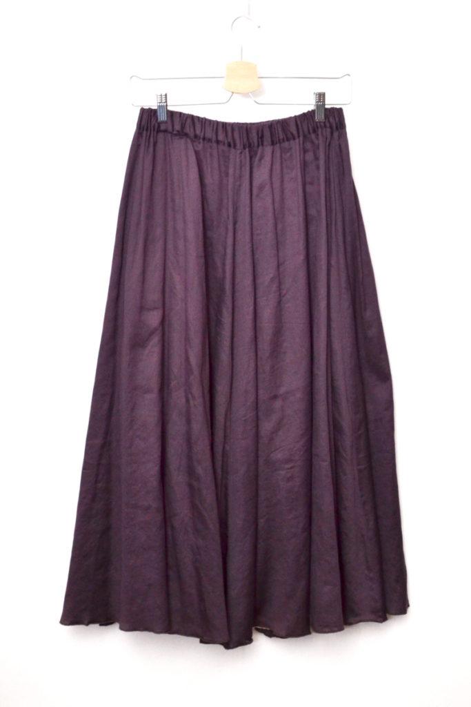 コットン ギャザータック ロング フレアースカートの買取実績画像