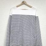 2019SS/コットン ボーダー 長袖 プルオーバー Tシャツ