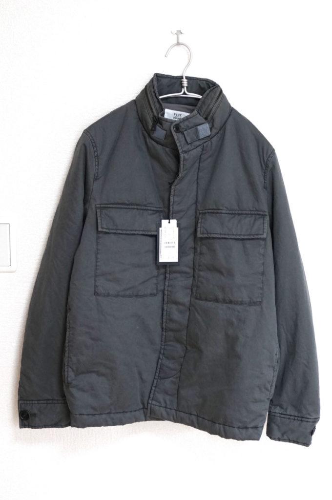 BLUE WORK/ガーメントダイ 中綿 ミリタリージャケット