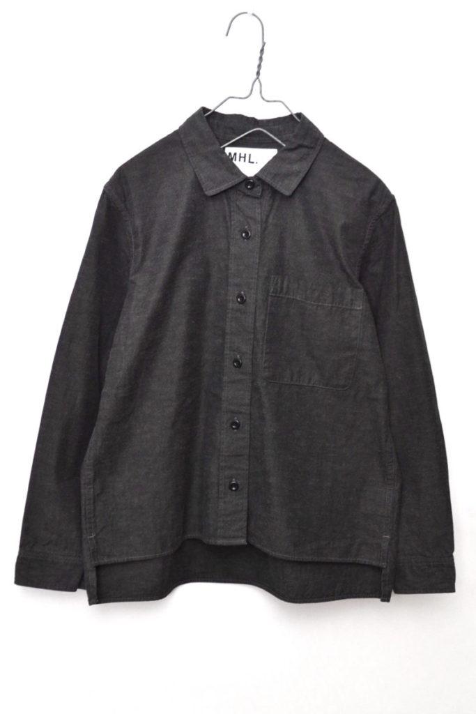 2016AW/ ブラックシャンブレー ボックスシャツ