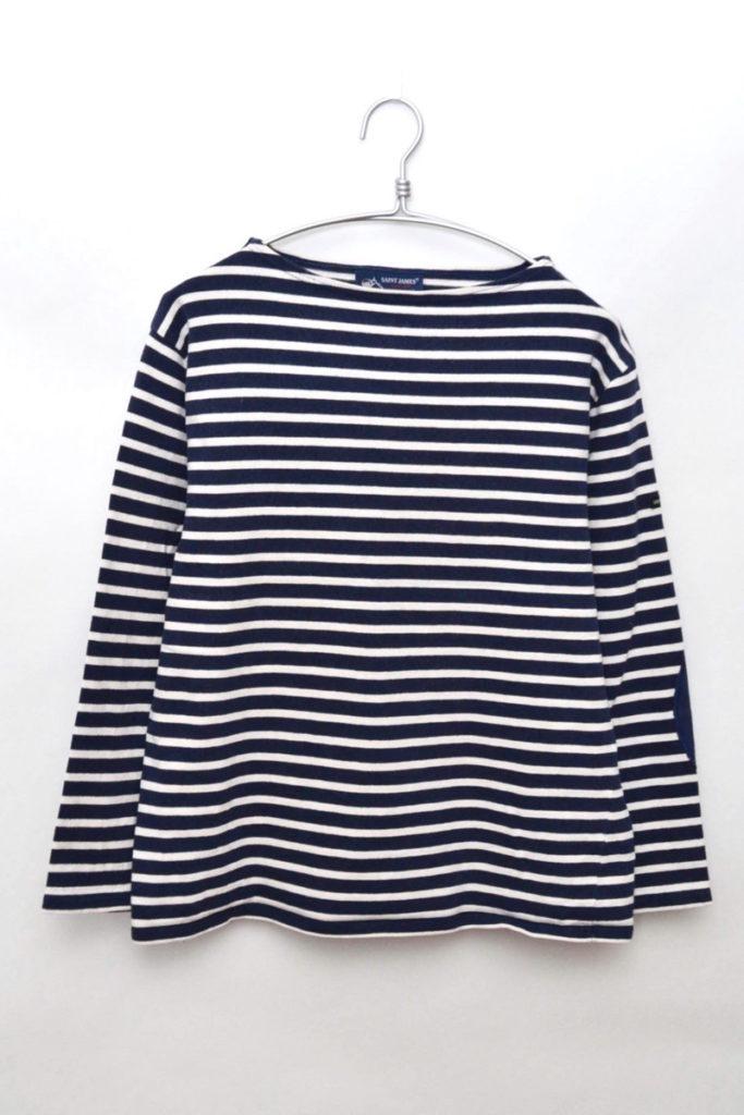 OUESSANT ウェッソン エルボーパッチ付きバスクシャツ