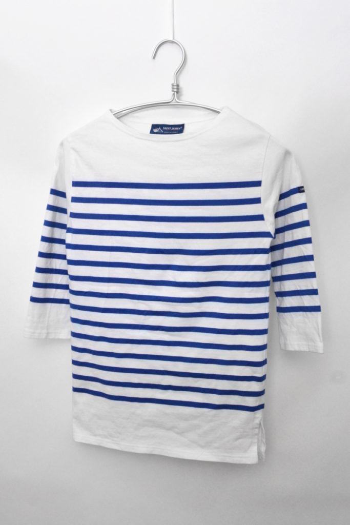 NAVAL 3/4 七分袖 パネルボーダー バスクシャツ