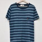 × Pilgrim Surf+Supply × BEAMS PLUS◆インディゴ染め ボーダー カットソー Tシャツ